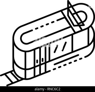 Tramway icon, outline style - Stock Photo