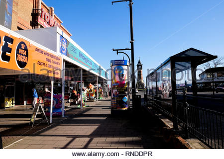 Skegness in Winter, Lincolnshire, UK. - Stock Photo