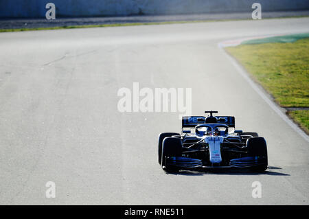Barcelona, Spain. 18th Feb, 2019. 18th February 2019, Circuit de Barcelona-Catalunya, Barcelona, Spain; Formula One Testing; Lewis Hamilton of the Mercedes Team during the winter test at the circuit of Catalunya Credit: Action Plus Sports Images/Alamy Live News - Stock Photo
