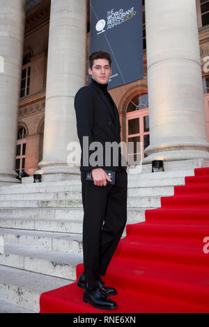 Paris, France. 18th Feb, 2019. Isaac Carew on the red carpet as a guest of Gaggenau at The World Restaurant Awards 2019. Credit: Robert Christopher/Alamy Live News - Stock Photo