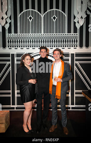 Paris; France. 18th Feb; 2019. Isaac Carew and award winner JR Ryall at The World Restaurant Awards 2019. Credit: Robert Christopher/Alamy Live News - Stock Photo
