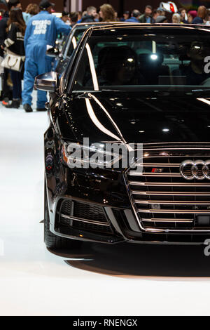 Chicago, IL, USA - February 10, 2019: Audi S3 on display at the 2019 Chicago Auto Show. - Stock Photo