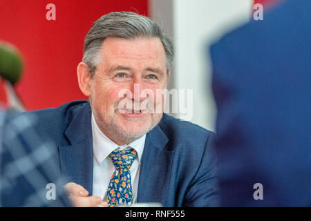 Labour's Shadow Secretary of State for International Trade, Barry Gardiner M.P. at a People Power event in Nottingham, England, UK. - Stock Photo