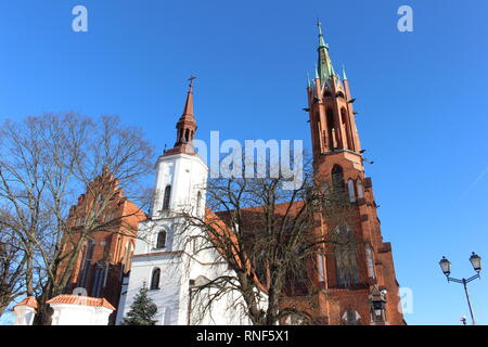 Cathedral Basilica of the Assumption of the Blessed Virgin Mary, Białystok, View from the city center - Stock Photo