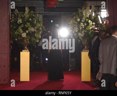 Photo Must Be Credited ©Alpha Press 079965 18/02/2019 Keira Knightley The Aftermath Premiere at Picture House Central London - Stock Photo