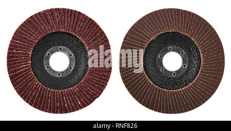 Abrasive disk for grinder isolated on white - Stock Photo