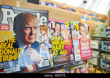 NEW YORK - APRIL 06, 2016: Donald Trump on the cover of PEOPLE. Donald John Trump is an American businessman, television personality, author, and poli - Stock Photo