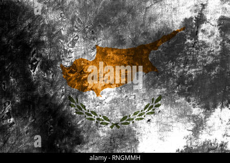 Cyprus grunge flag,  island country in the Eastern Mediterranean - Stock Photo