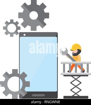 mobile app development - Stock Photo