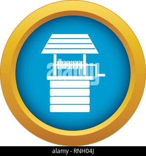 Water well icon blue vector isolated - Stock Photo