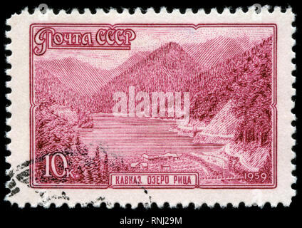 Postage stamp from the Soviet Union in the Landscapes series issued in 1959 - Stock Photo