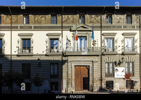 MADRID, SPAIN - JANUARY 22, 2018: Typical building in city of Madrid, Spain - Stock Photo