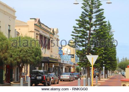 Geraldton / Australia: Coastal town in Western Australia - Town center - Stock Photo