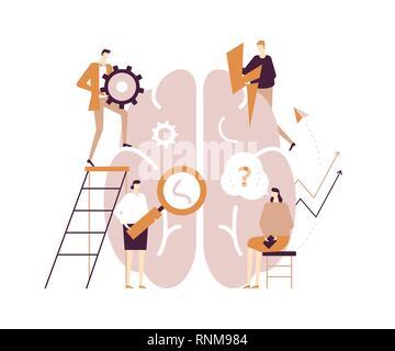 Psychology concept - modern vector flat design style illustration - Stock Photo
