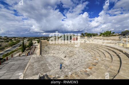 Amphitheatre, excavation site site, Kourion, Cyprus - Stock Photo