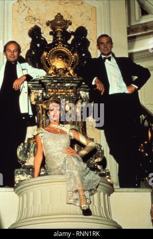 KLAUS MARIA BRANDAUER, KIM BASINGER, SEAN CONNERY, NEVER SAY NEVER AGAIN, 1983 - Stock Photo