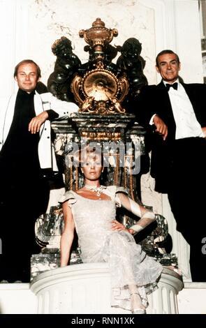 KLAUS MARIA BRANDAUER, SEAN CONNERY, KIM BASINGER, NEVER SAY NEVER AGAIN, 1983 - Stock Photo