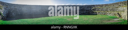 Panorama of Grianan Of Aileach Hillfort in Ireland - Stock Photo