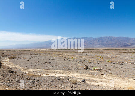 View across Death Valley from close to Furnace Creek, Death Valley National Park, California, United States. - Stock Photo