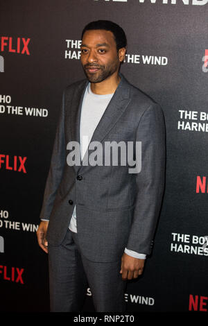 London, UK. 19th Feb 2019. Chiwetel Ejiofor at Special Screening of Netflix's The Boy Who Harnessed The Wind PECIAL February 15, 2019 in The Ham Yard Hotel London, England Credit: Tom Rose/Alamy Live News - Stock Photo