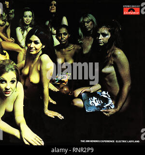 The Jimi Hendrix Experience - Electric LadyLand - Vintage Cover Album - Stock Photo