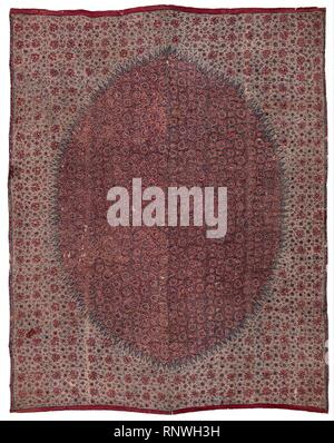 Ceremonial cloth and sacred heirloom (dodot) with floral chintz design - Stock Photo