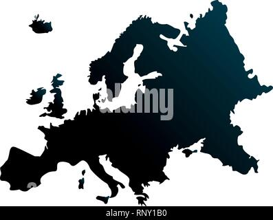 europen union map on white background vector illustration - Stock Photo
