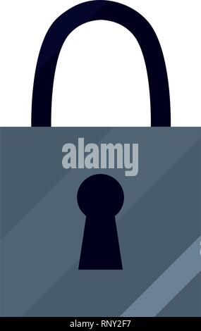 padlock security protection on white background vector illustration - Stock Photo