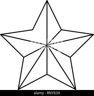 star sign outline on white background vector illustration - Stock Photo