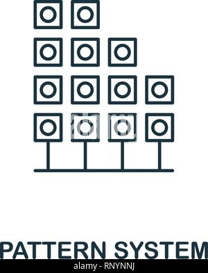 Pattern System outline icon. Thin line style from big data icons collection. Pixel perfect simple element pattern system icon for web design, apps - Stock Photo
