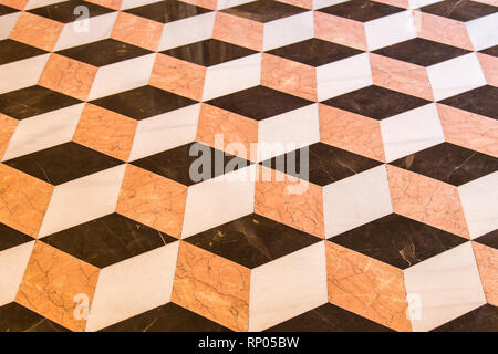Old marble 3d cube floor design - Stock Photo
