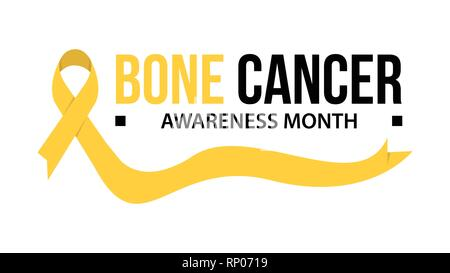 Awareness month ribbon cancer. Bone cancer awareness vector illustration - Stock Photo