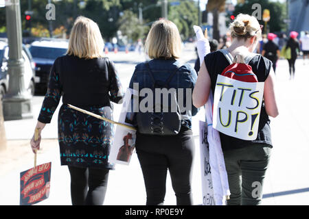 3rd Annual Women's March Los Angeles held in downtown Los Angeles, California.  Featuring: Atmosphere Where: Los Angeles, California, United States When: 19 Jan 2019 Credit: Sheri Determan/WENN.com - Stock Photo