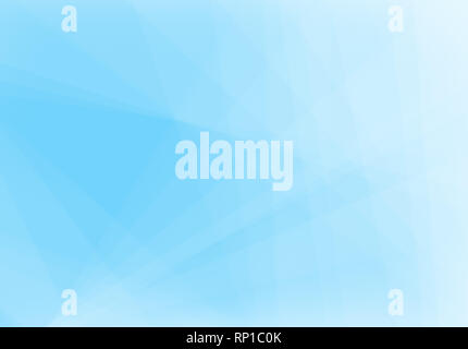 Abstract light blue and turquoise background with light and transparent lines, triangle shapes and diagonal stripes in random pattern. Copy space. - Stock Photo