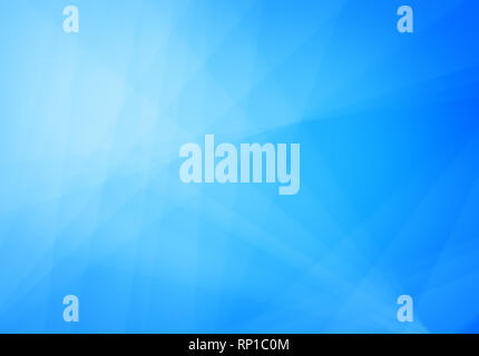 Abstract blue and turquoise background with light and transparent lines, triangle shapes and diagonal stripes in random pattern. Copy space. - Stock Photo
