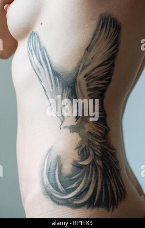 Art project about tattoos and scars. - Stock Photo