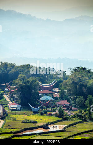 Indonesia, Sulawesi, a village in Tana Toraja - Stock Photo