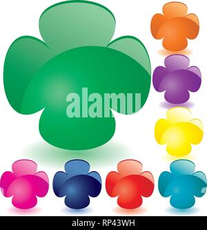 Set of unusual multicolored buttons, part 7, vector illustration - Stock Photo
