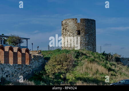 Entrance of the old town Nessebar, Bulgaria - Stock Photo