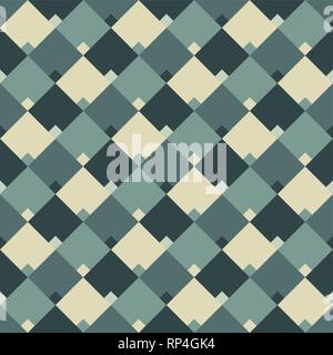 Abstract geometric rhombus seamless pattern. Color vector background. - Stock Photo