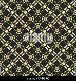 Abstract seamless ornamental quatrefoil pattern. Vector geometric lattice background. - Stock Photo
