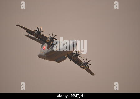 Airbus A400M Atlas,  military transport aircraft. - Stock Photo