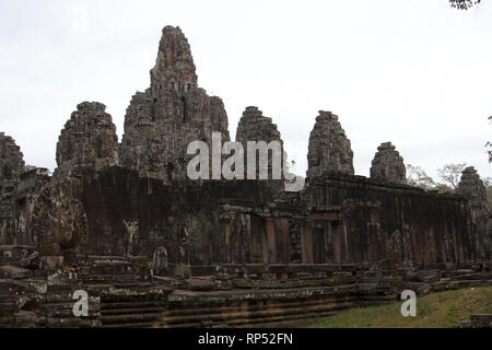 Siem Reap-Bayon Temple north side - Stock Photo