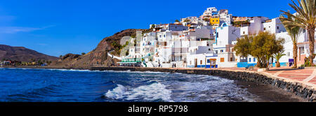 Beautiful Las Playitas village,Fuerteventura island,Spain. - Stock Photo