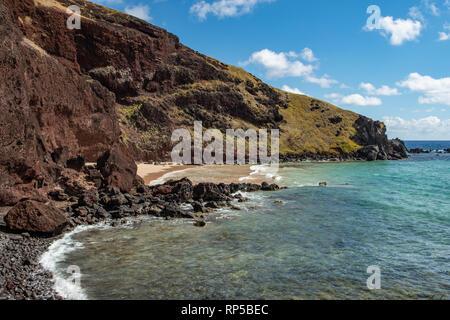 Beach at Ovahe, Easter Island, Chile - Stock Photo