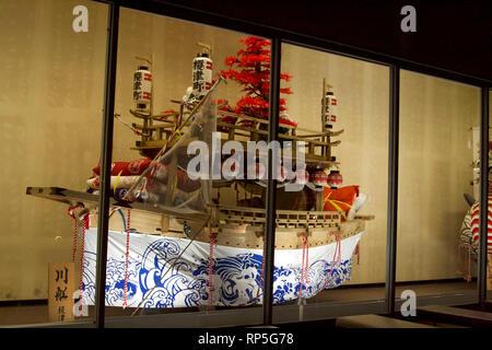 Nagasaki-Fish boats reproduction at Tradition Museum (Glover Dori-Dutch Slope) 2 - Stock Photo
