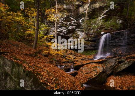 B. Reynolds Falls in Ricketts Glen State Park, Pennsylvania - Stock Photo