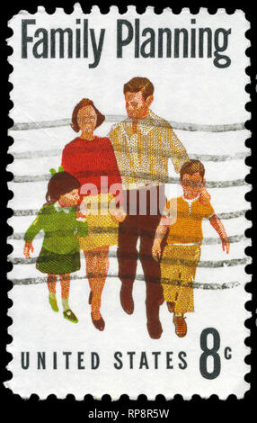 USA - CIRCA 1972: A Stamp printed in USA shows the Family Planning, circa 1972 - Stock Photo
