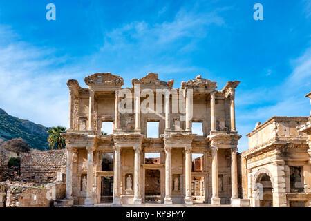 Library of Celsus in Ephesus, Selçuk, Izmir Province, Turkey - Stock Photo