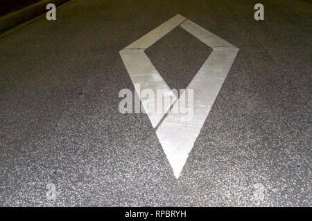 Kobe-Beforehand indication of a pedestrian crossing or a bicycle crossing zone - Stock Photo